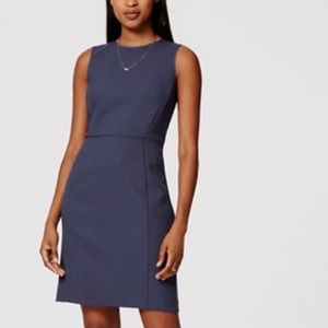 Smokey Blue Sheath Sleeveless Dress